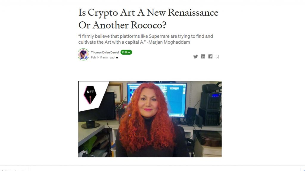 Medium Website Is Crypto Art A New Renaissance Marjan Moghaddam