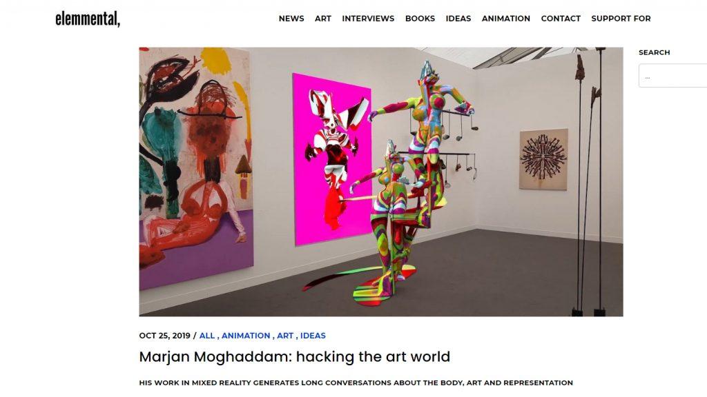 ElementalMagazine_2019 Marjan Moghaddam: hacking the art world